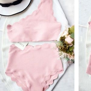 Other - ✨JUST IN✨High Waisted Scalloped One Shoulder
